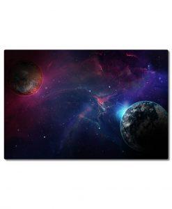 kaksi planeettaa canvastaulu
